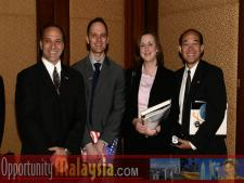 Opportunity Malaysia Participants arriving in Malaysia February 27 Ralph Locher, Attorney at Lerner and Greenberg, Dr. Rolf Schroeder, Representative of DMNI, Stephanie Heckel, Trade Specialist of US Department of Commerce, John Diep, Director Asia/Pacific Region for Enterprise Florida