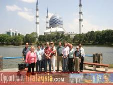 Participants do a bit of siteseeing in the city of Putrajaya