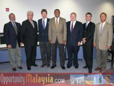 Meeting at the Florida Space Authority.From left to right: James P. Tarlton the President of The Broward Alliance, Christopher Pollock the President of The Greater Fort Lauderdale Chamber of Commerce, John McCartney the Director of The US Department of Commerce for Florida, Captain Winston Scott the Executive director for the Florida Space Authoratey, Bernhard Schutte the CEO of Digital Media Network, Thomas Bernthaler the CTO of Digital Media Network and Michael Corbit the Executive director of the Internet Coast.