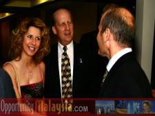 Ken Haik and his wife Paula Haiko having a chat with Jacques Roy, General Manager of The Atlantic HotelFrom Left to right: Paula Haiko and Ken Haiko, Chairman, Board of Supervisors of Florida Space Authority and Jacques Roy, General Manager of The Atlantic Hotel.