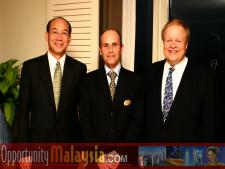 John Diep, Jacques Roy and Bernhard Schutte.From Left to right: John Diep, Director of Asia and the Pacific Region of Enterprise Florida, Jacques Roy, General Manager of The Atlantic Hotel, and Bernhard Schutte, CEO of Digital Media Network (DMNI)